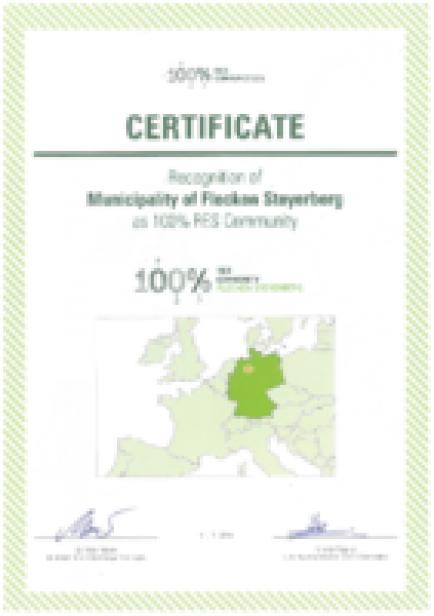 Steyerberg Zertifikat