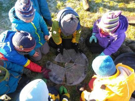 Waldkindergarten Eisplatte