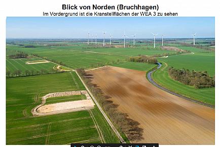 Blick von Norden (Bruchhagen) WEA 3